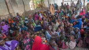 A health centre in a camp in Mogadishu, Somalia