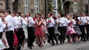 Dancers at the Flora Day celebrations in Helston