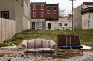 Discarded furniture in Philadelphia