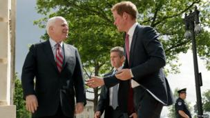 Prince Harry with John McCain