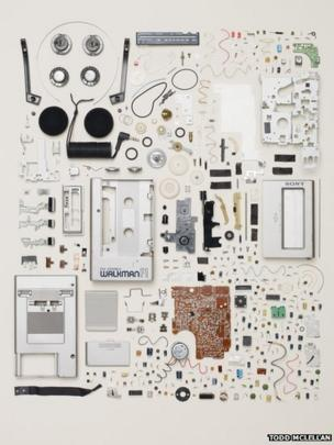 Disassembled Sony Walkman