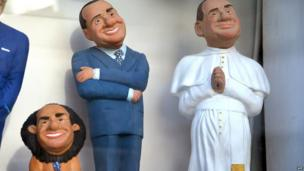 Statuettes depicting Silvio Berlusconi (13 May 2013)