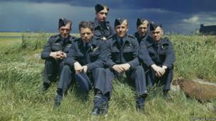Original Dambusters crew after raid
