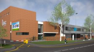 A mock-up of the college's Melton campus.