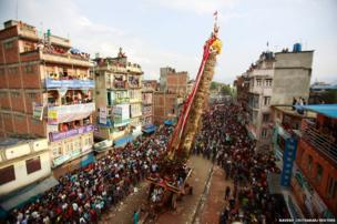 Chariot festival in Lalitpur, Nepal