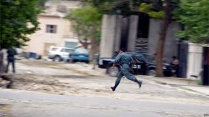 Afghan policeman, Kabul, 24 May 2013