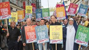 Peter Tatchell and other equal rights campaigners