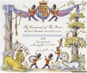 Invitation to Prince Charles to attend the Coronation, 1953, Joan Hassall