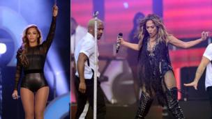 Beyonce Knowles and Jennifer Lopez