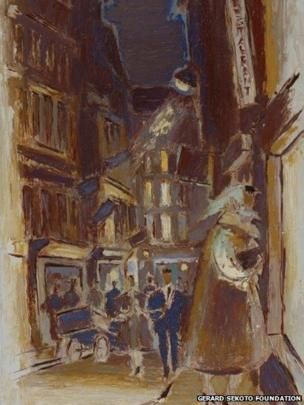 Paris Street Scene c. 1960, oil on canvas, Private Collection