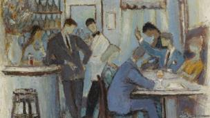 Le Cafe Parisian 1959, oil on canvas, Private Collection
