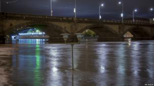 The rising water of Vltava. Photo: Jiri Kurcik