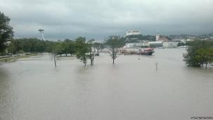 Flooded Bratislava. Photo: Martina Antosova