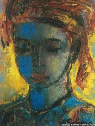 Woman with Downcast Eyes, c. 1953-5, oil on board, Private Collection