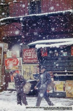 New York postmen, 1952, by Saul Leiter