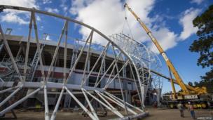 The Estadio Beira-Rio, Porto Alegre