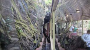 Welsh Highland Railway at the Aberglaslyn Pass