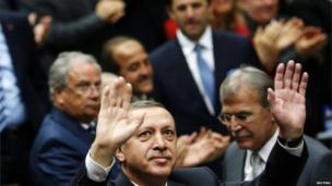 Turkish Prime Minister Recep Tayyip Erdogan in Ankara, 11 June 2013