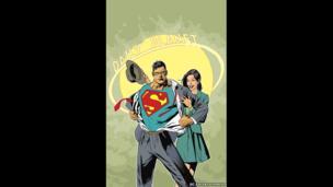 Clarke Kent and Lois Lane artwork