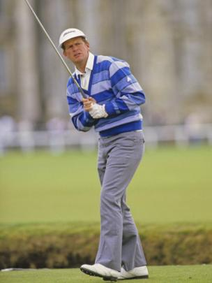 Scottish golfer Sandy Lyle on the 2nd tee at The Open Championship in St Andrews in July 1984