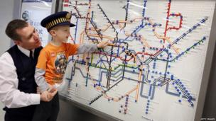 Underground map made of Lego