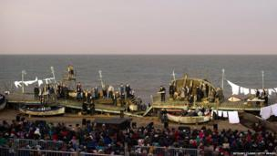 Grimes on the Beach at the Aldeburgh festival