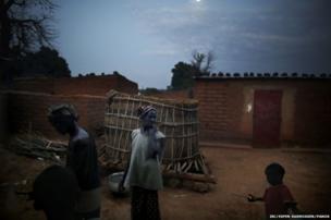 Preparing dinner in Mali