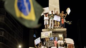 Demonstrators in Belo Horizonte on 20 June 2013