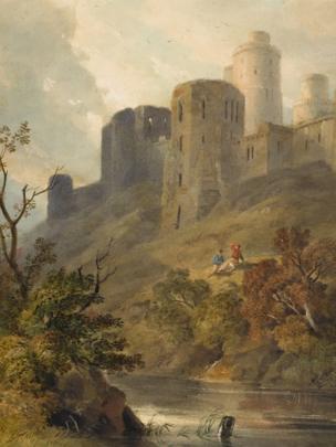 Kidwelly Castle gan Hugh Grecian Williams