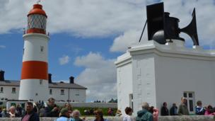 Souter Lighthouse and foghorn