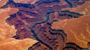 An aerial picture of the Grand Canyon in Arizona