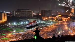Opponents of Mohammed Morsi in Tahrir Square