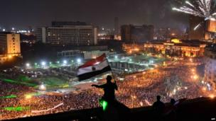 Demonstration in Cairo's Tahrir Square on 7 July 2013