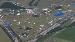 Aerial of T in the Park site