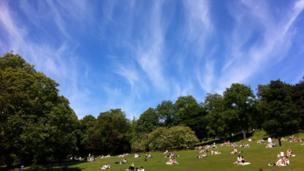Clouds over Kelvingrove Park