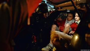 Brazilian police arrest protesters in Rio de Janeiro