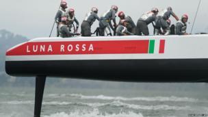 Crew members of the Luna Rossa Challenge