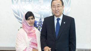 Malala Yousafzai meets The Secretary General Ban Ki-moon