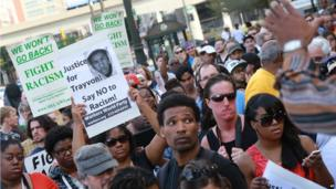 Protesters in Detroit (14 July)