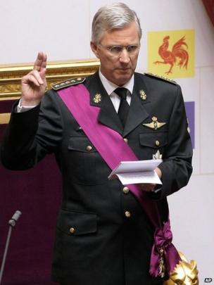 Philippe takes the oath at the Palace of the Nation in Brussels, 21 July 2013