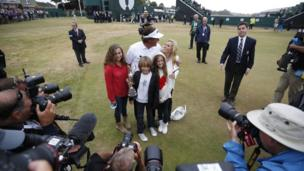 Phil Mickelson and his family