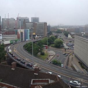 A38 into the city by Aston University
