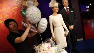 Kate and William in waxworks