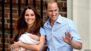 Kate and William outside the hospital