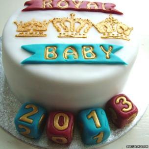Royal baby cake. Photo: Sue Livingston