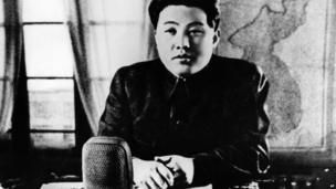 In this June 1950 photo from North Korea's official Korean Central News Agency, distributed by Korea News Service, leader Kim Il Sung gives a broadcast speech to all North Korean citizens regarding the break out of the Korean war.