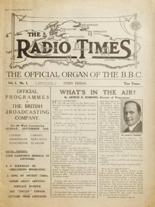 Radio Times First edition, 28 September 1923