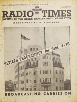 Broadcasting carries on, 4 September 1939