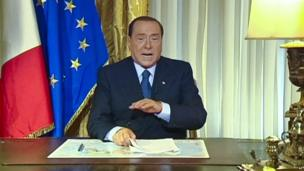 Silvio Berlusconi reacts to Italy's Court of Cassation ruling that upheld his prison sentence for tax fraud.