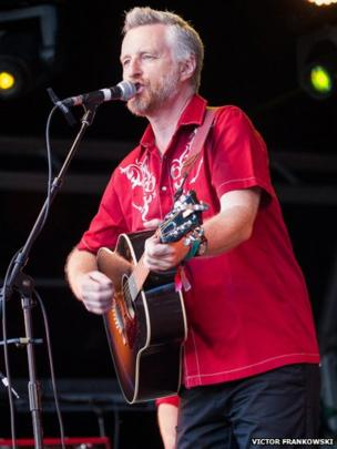 Billy Bragg at Camp Bestival